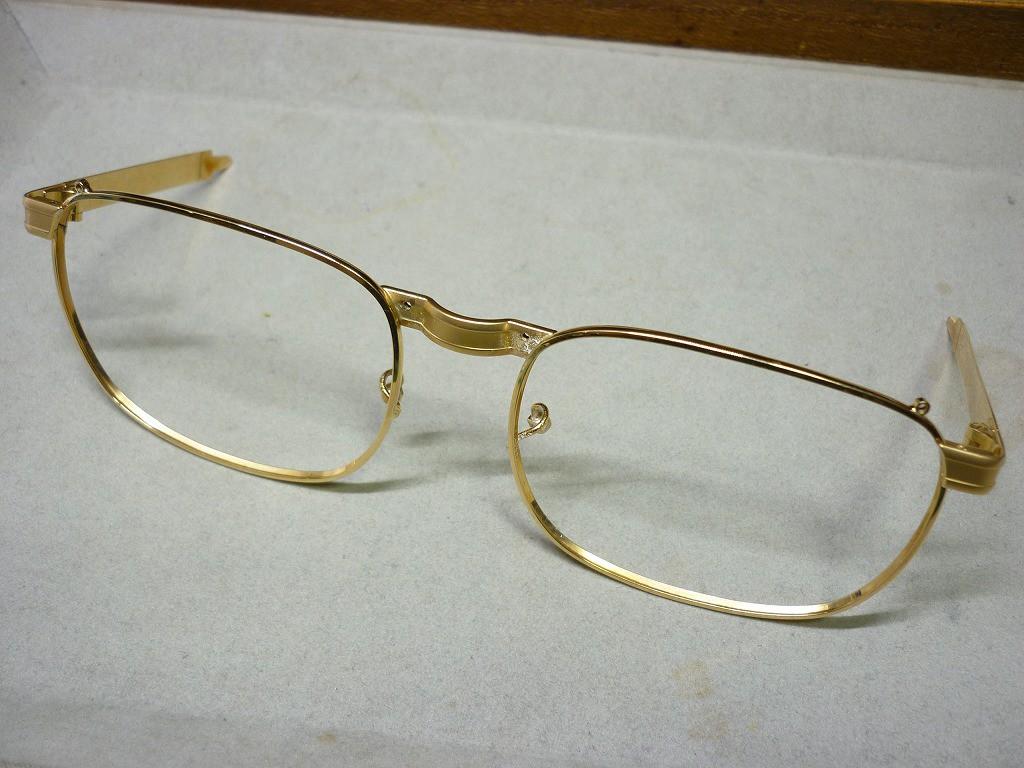 K18製メガネ枠