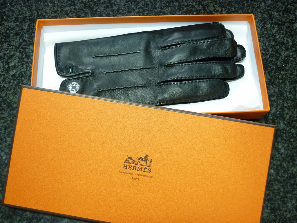 エルメス紳士用手袋レザー買取まるぜん